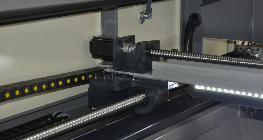 Kugelumlaufspindel einer CNC Maschine