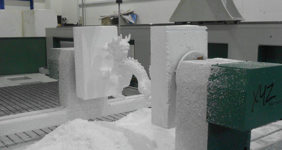 3D Skulptur aus Schaumstoff mit einer CNC Portalfräse gefertigt