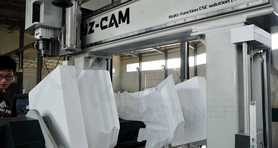 Heißdrahtschneiden von Schaumstoffen mit einer Portalfräsmaschine