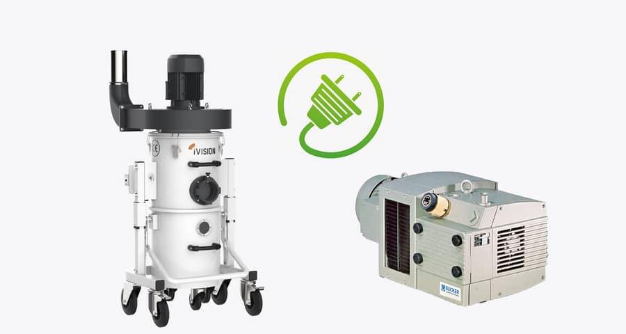 iVision Absauganlage für CNC Fräsen