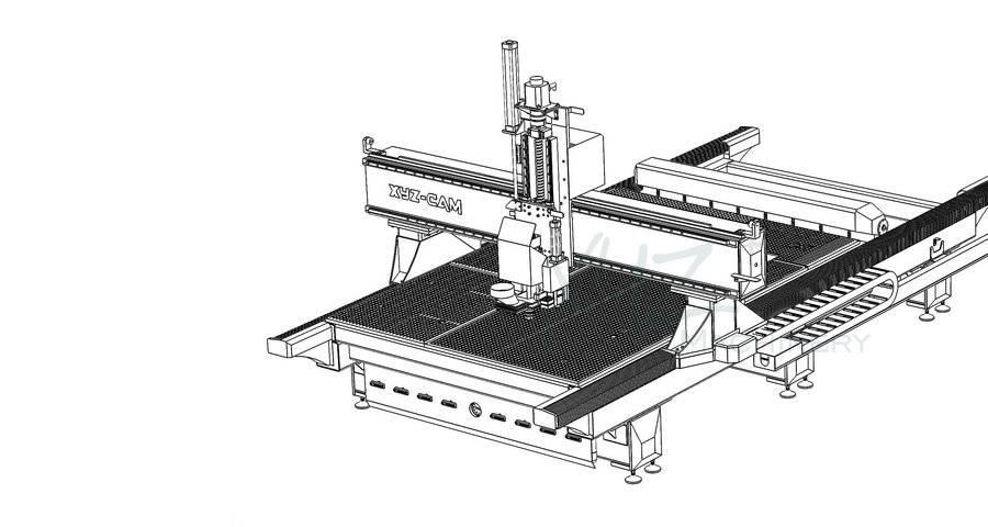 Zeichnung einer CNC Lösung zur Aluminiumbearbeitung